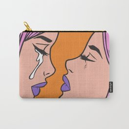Two Crying Comic Girls Carry-All Pouch