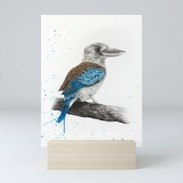 One Clever Kookaburra Mini Art Print