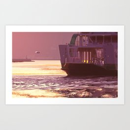 memories of gone summer [Loss of the departure] Art Print