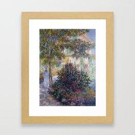 Claude Monet Camille Monet in the Garden at Argenteuil Framed Art Print