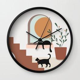 Sunset at Home Wall Clock