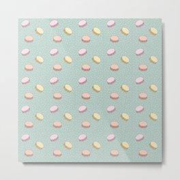Pastel Macarons Metal Print