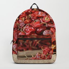 Red Hot Chillies Basket - Asia Market  Backpack