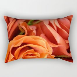 Peach Rose 3 Rectangular Pillow