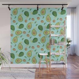 Avocado gen z fashion apparel food fight gifts Wall Mural