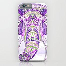 Purple Ethnic Elephant iPhone Case