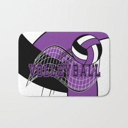 Volleyball Sport Game - Net - Purple Bath Mat