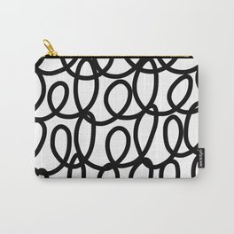 Loop the Loop / Black on white Carry-All Pouch