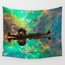 THE AFRICAN BOAT IN THE NEBULA Wall Tapestry