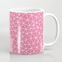 Connectivity - White on Pink Coffee Mug