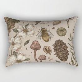 Nature Walks (Light Background) Rectangular Pillow