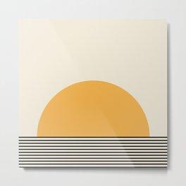 Sunrise / Sunset - Yellow & Black Metal Print