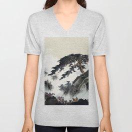 Chinese landscape Unisex V-Neck