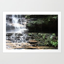 Blue Mountains Waterfall Art Print