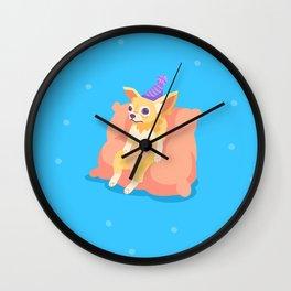 Awkward on a Pillow Chihuahua Wall Clock