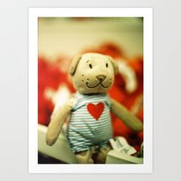 little teddy charmer Art Print