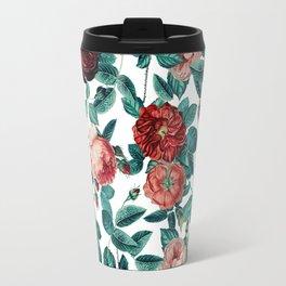 Vintage Roses Round Travel Mug