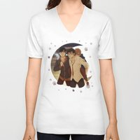marauders V-neck T-shirts featuring marauders moon by Kirsten Stackhouse