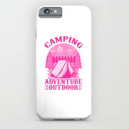Camping Adventure Outdoor mag iPhone Case