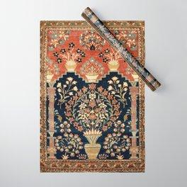 Kashan Poshti  Antique Central Persian Rug Print Wrapping Paper