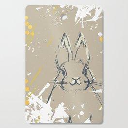 Bunny Portrait M+M Latte by Friztin Cutting Board