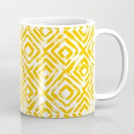 Amber Yellow Geometric Print Coffee Mug