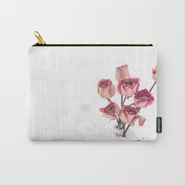 Rose in Snow Carry-All Pouch