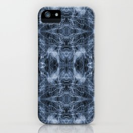 Blue, Black and White Light-trails Pattern 806 iPhone Case