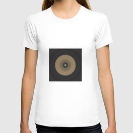 Gold Coin Mandala on Marble T-shirt