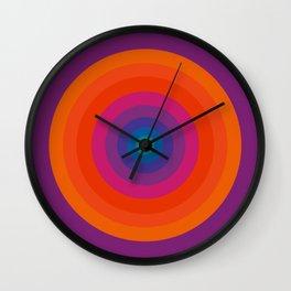 Retro Bullseye Pattern Wall Clock