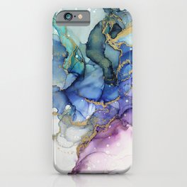 Moody Mermaid Bubbles Abstract Ink iPhone Case