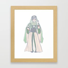 the woman behind the throne Framed Art Print