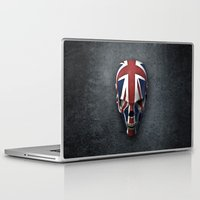 british flag Laptop & iPad Skins featuring British horror by GrandeDuc