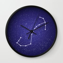 Scorpio zodiac constellation Wall Clock
