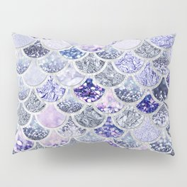 Purple and Ultra Violet Trendy Glitter Mermaid Scales Pillow Sham