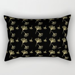 Ginkgo Black Gold Rectangular Pillow