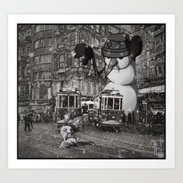 istiklal_snowman Art Print