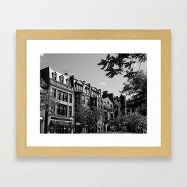 Along the City Streets Framed Art Print