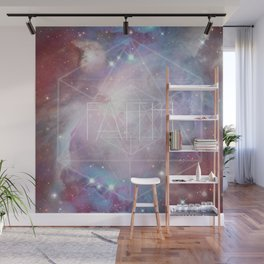 Faith - icosahedron Wall Mural