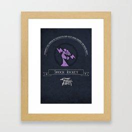 Shock Jockey Vigor Framed Art Print