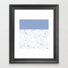 XVI - Blue 2 Framed Art Print