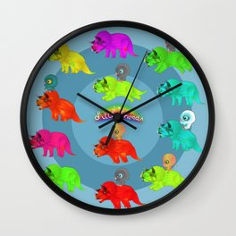 Triceratops Baby Wall Clock
