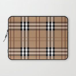 Classic Vintage Brown Check  Tartan Laptop Sleeve