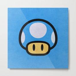 Blue Mushroom Metal Print