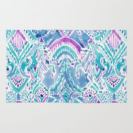 UNICORN DAYDREAMS Mythical Watercolor Tapestry Rug