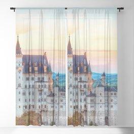 Wonderfully Romantic Fairytale Neuschwanstein Castle Hohenschwangau Bavaria Germany Europe Ultra HD Sheer Curtain