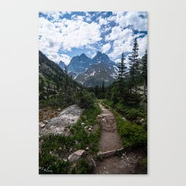 Teton Canyon, Grand Teton National Park Canvas Print
