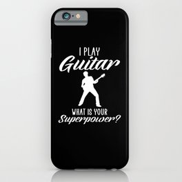 i play guitar iPhone Case