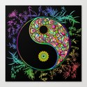 Yin Yang Bamboo Psychedelic by bluedarkatlem