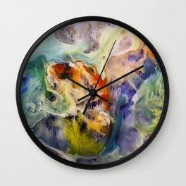Heart Watercolor Abstract Painting Wall Clock